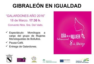 """GALARDONES """"GIBRALEÓN EN IGUALDAD"""" 2016"""