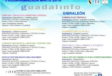 PROGRAMACIÓN DE MAYO – CENTRO GUADALINFO