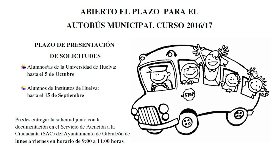PLAZOS SERVICIO AUTOBÚS MUNICIPAL