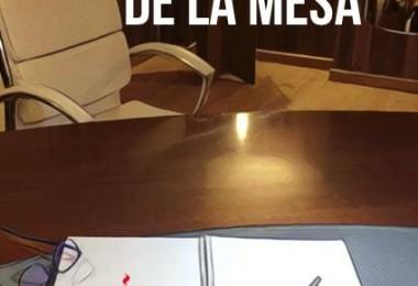 Al otro lado de la mesa de Silverio Victoria Alvez